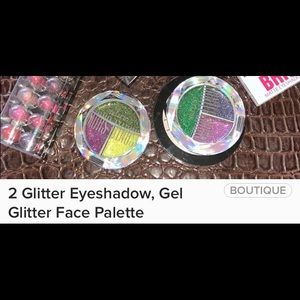 Other - 2 Glitter Eyeshadow,Gel Glitter Face Palette